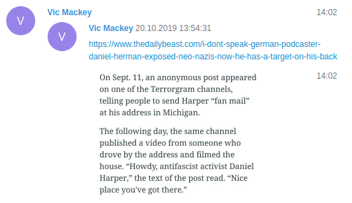 """Vic Mackey"" boasts about his failed dox"