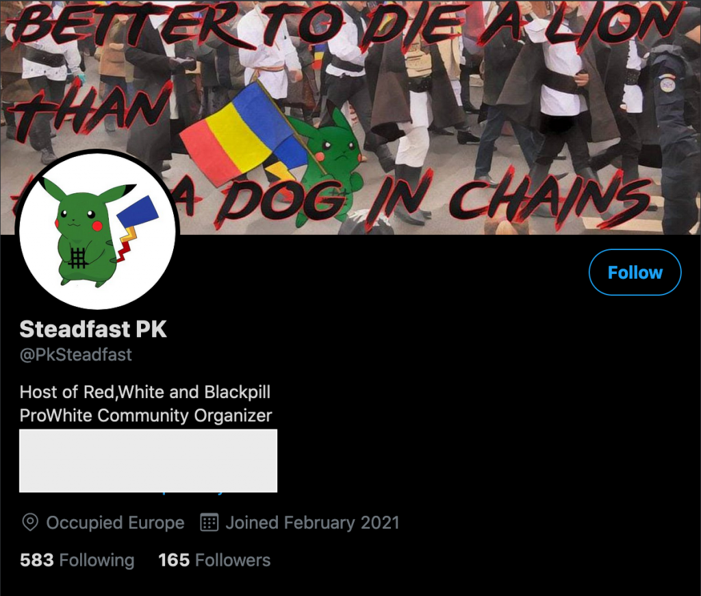 Brancoveanu's/Thrussell's current Twitter account.