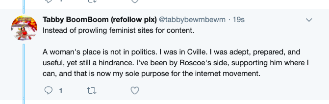 """""""Roscoe""""'s wife again notes she attended the """"Unite the Right"""" rally."""