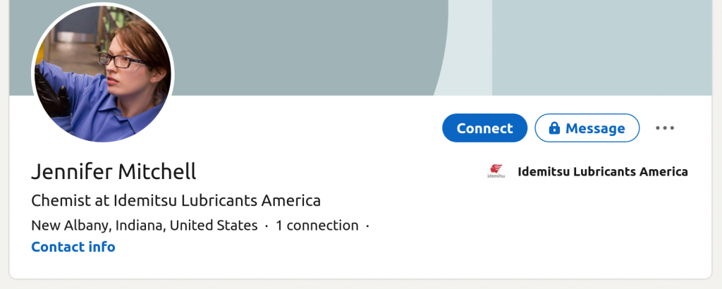 Jennifer Mitchell's LinkedIn Profile.