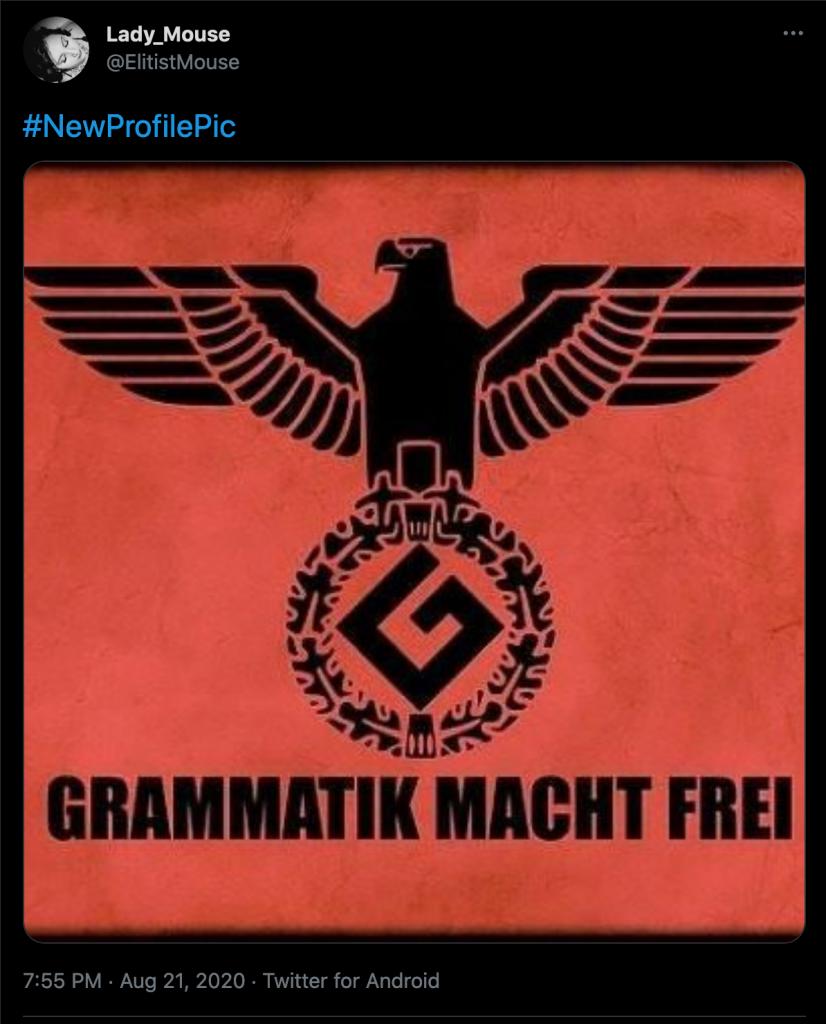 Veronica Nicole Langham thinks Nazi death camp memes are funny.