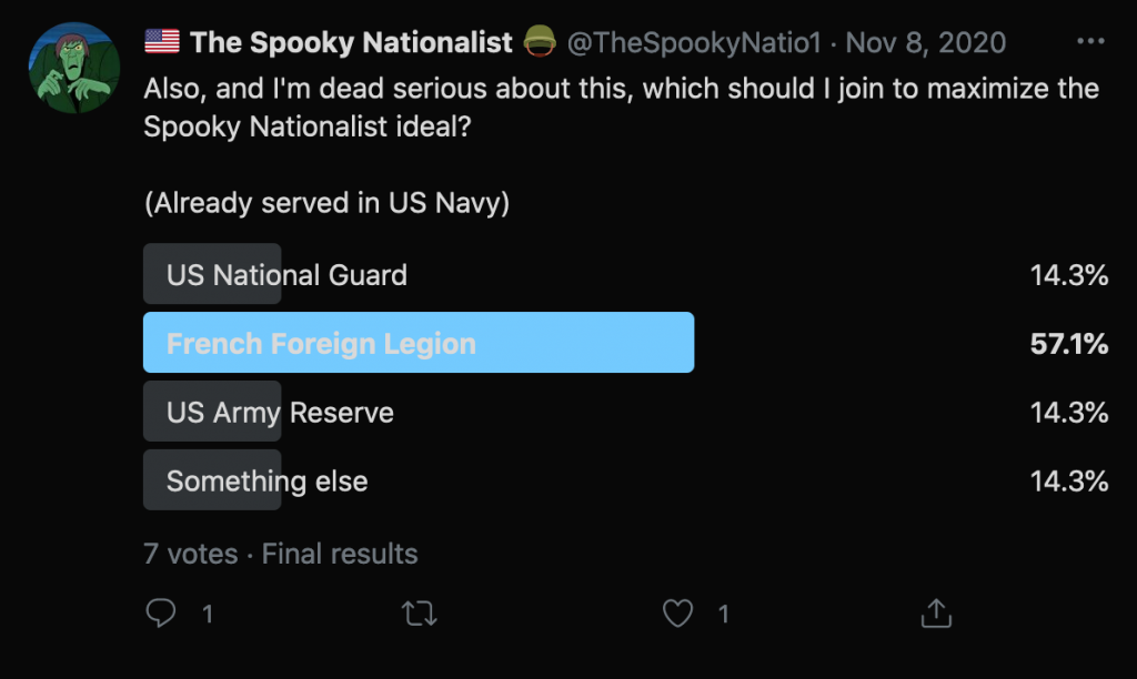 """""""The Spooky Nationalist"""" claims he served in the US Navy. So has Benjamin Welton (US Navy Reserves)."""