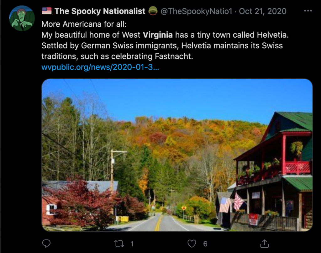 """""""The Spooky Nationalist"""" claimed to be from West Virginia, as did Benjamin Welton."""