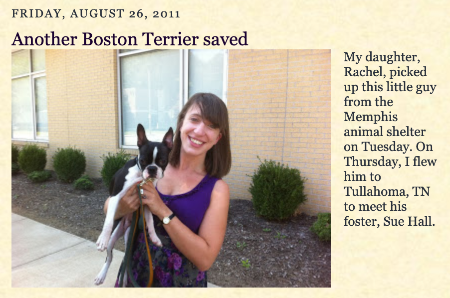 2011 photo of Rachel Elizabeth Carter found on a blog post.