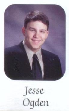 Jesse Ogden in his senior yearbook photo, 2004.