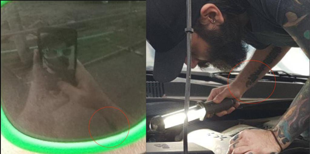 Tattoo comparison.
