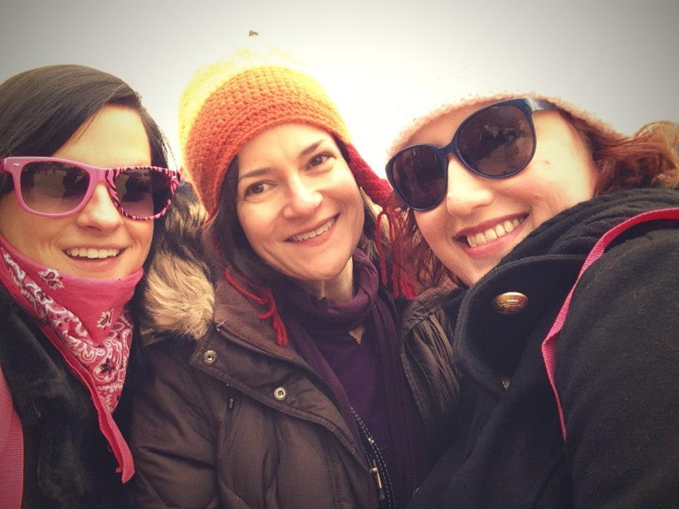 "Julie ""Jewels"" Green (center) with Kristen Hatten (right)."