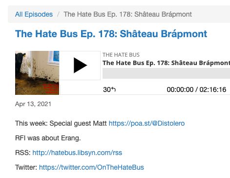 """""""Distolero"""" made an appearance on """"The Hate Bus"""" podcast as """"Matt."""""""