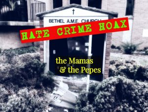 """Accompanying artwork for The Mamas and the Pepes' song """"Hate Crime Hoax."""""""
