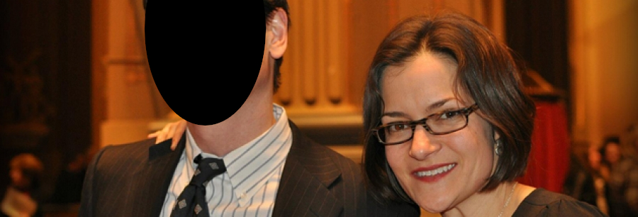 Julie Green (R) with her husband, a prominent Wilmington, Delaware lawyer.